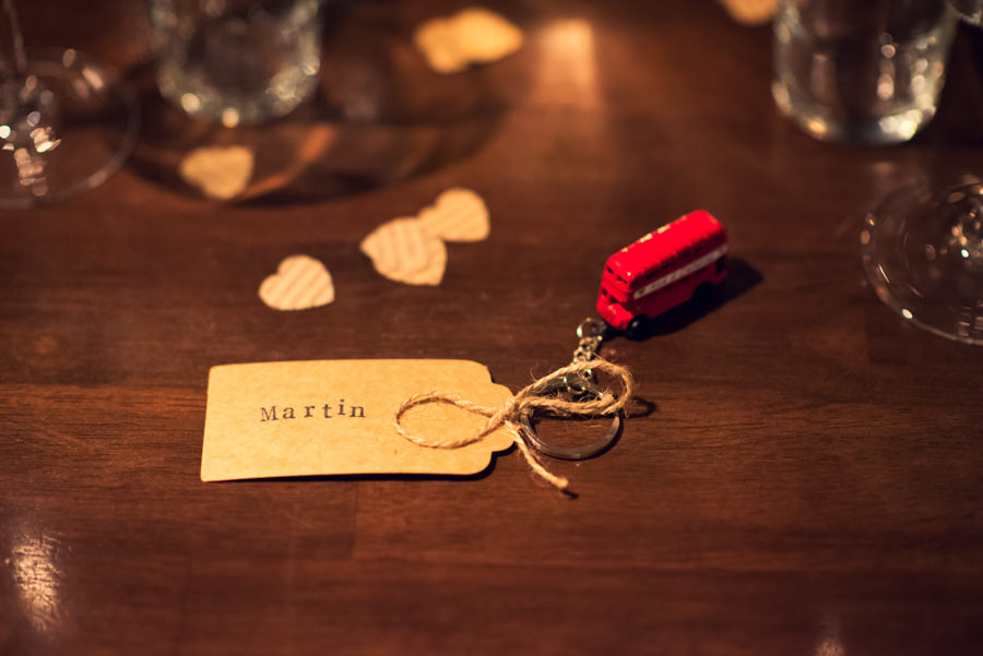 wedding guest place name on table