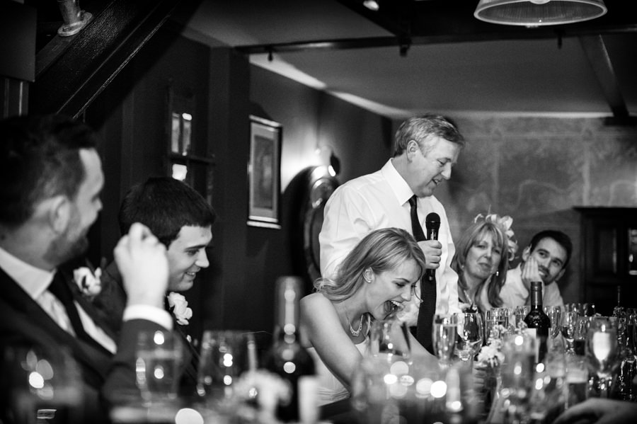 father of the bride giving his speech at the Artisan of Clerkenwell wedding reception