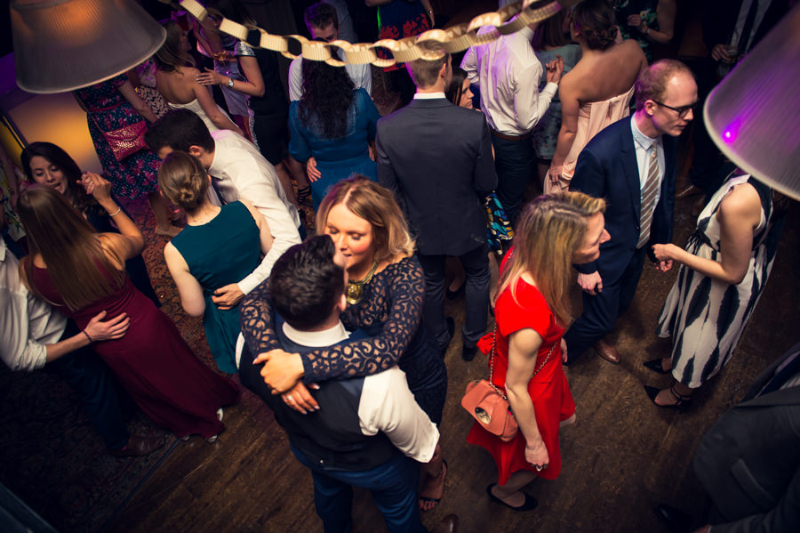 Guests dancing at a the Artisan of Clerkenwell wedding
