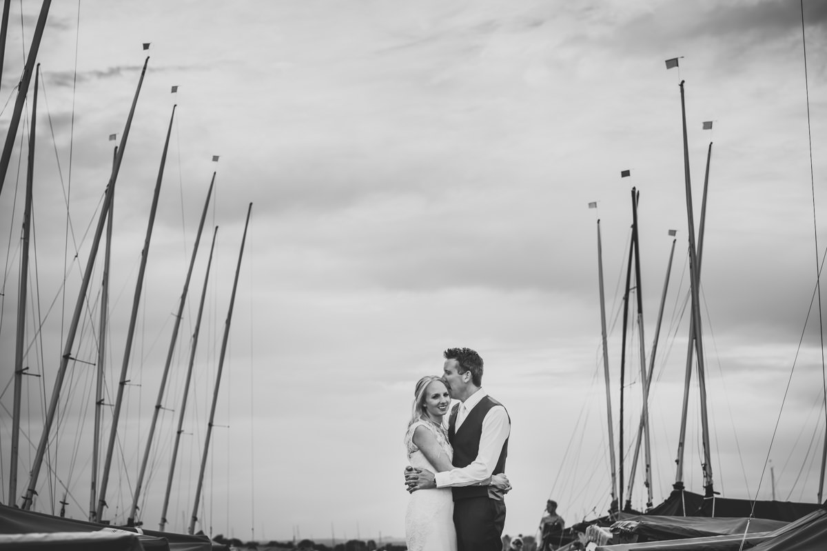 Itchenor Sailing Club wedding photographer