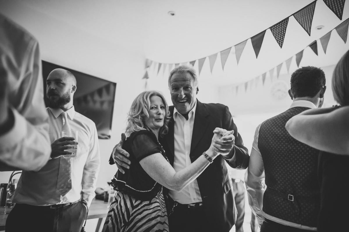 Guests dancing at a wedding