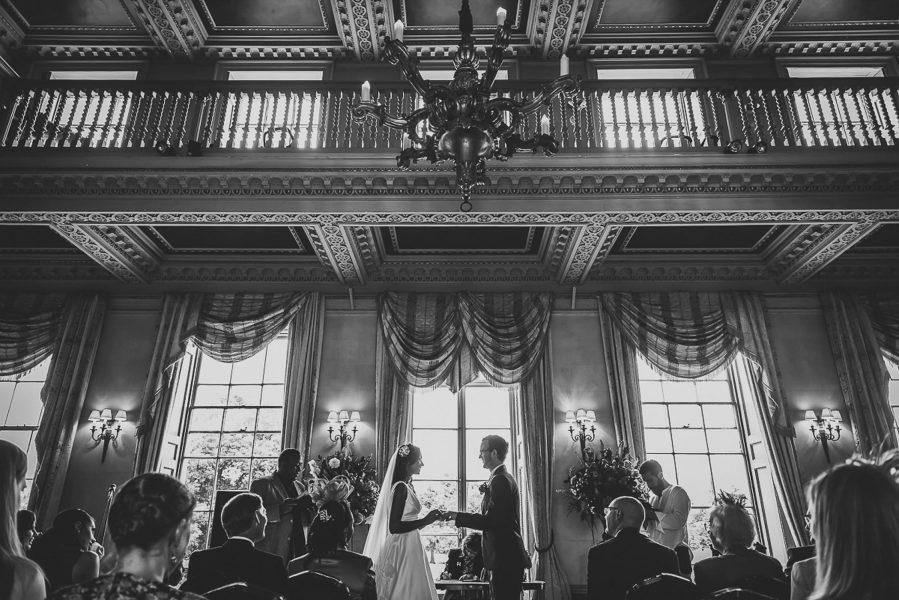 wedding ceremony at hampton court house