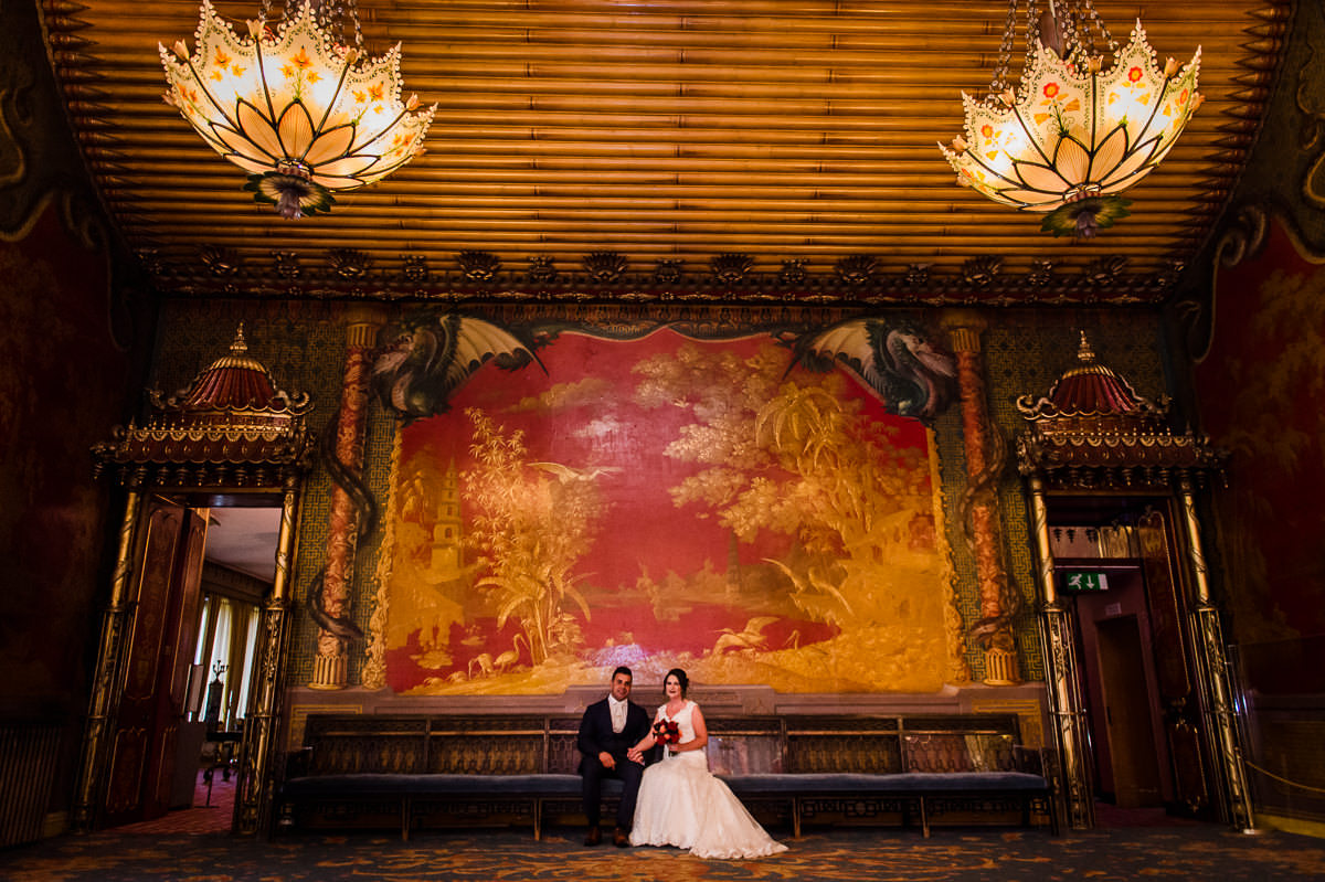Geraldine and Dany in the stunning Music Room at the Royal Pavilion