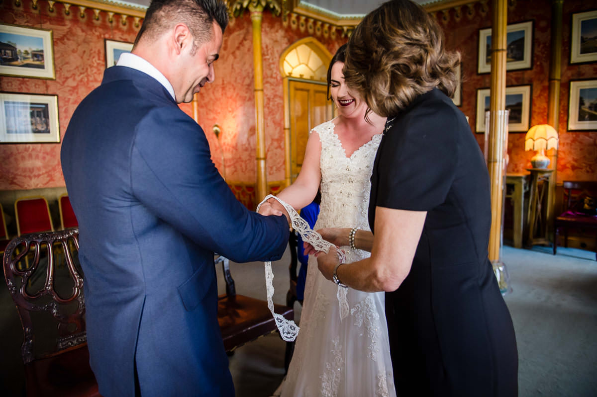 Hand-fasting humanist wedding ceremony at Brighton pavilion