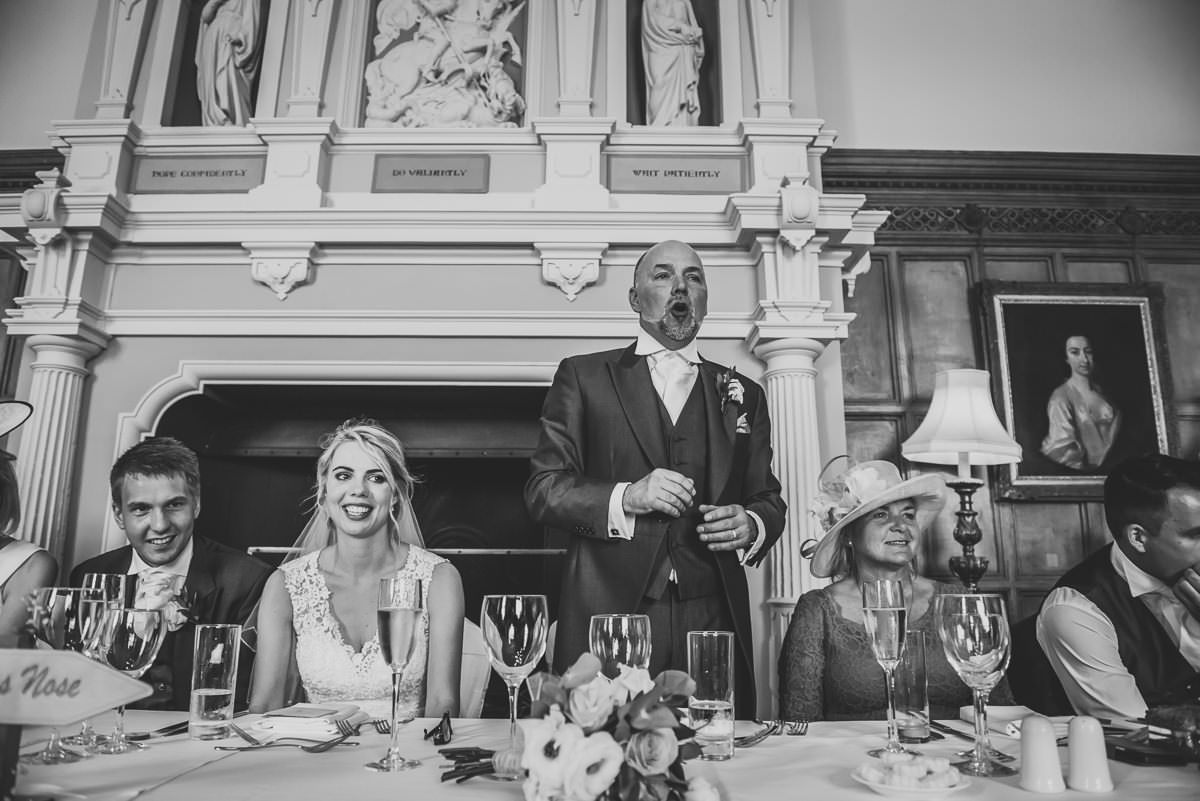 Wedding speeches at Arley Hall