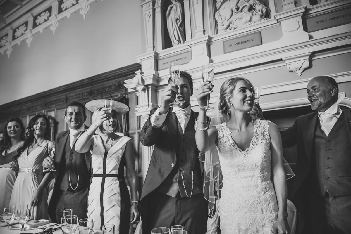Champagne toast at Arley Hall Wedding