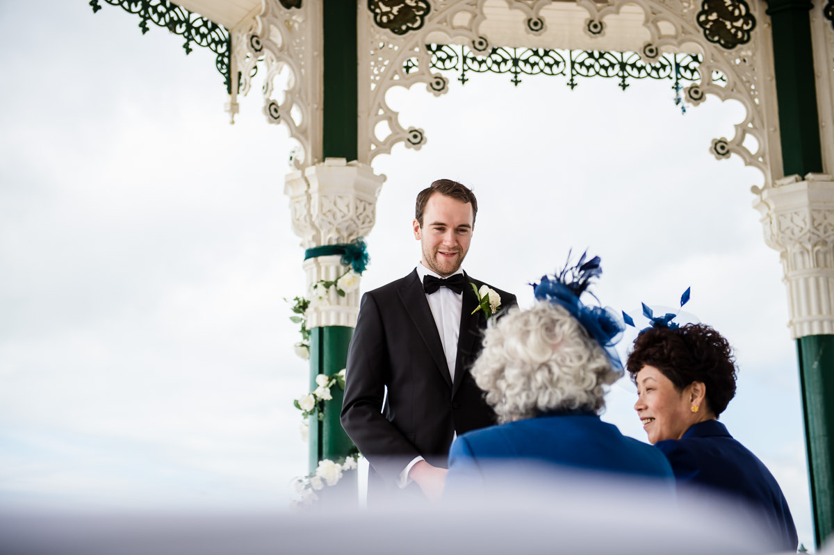 wedding photography at brighton bandstand