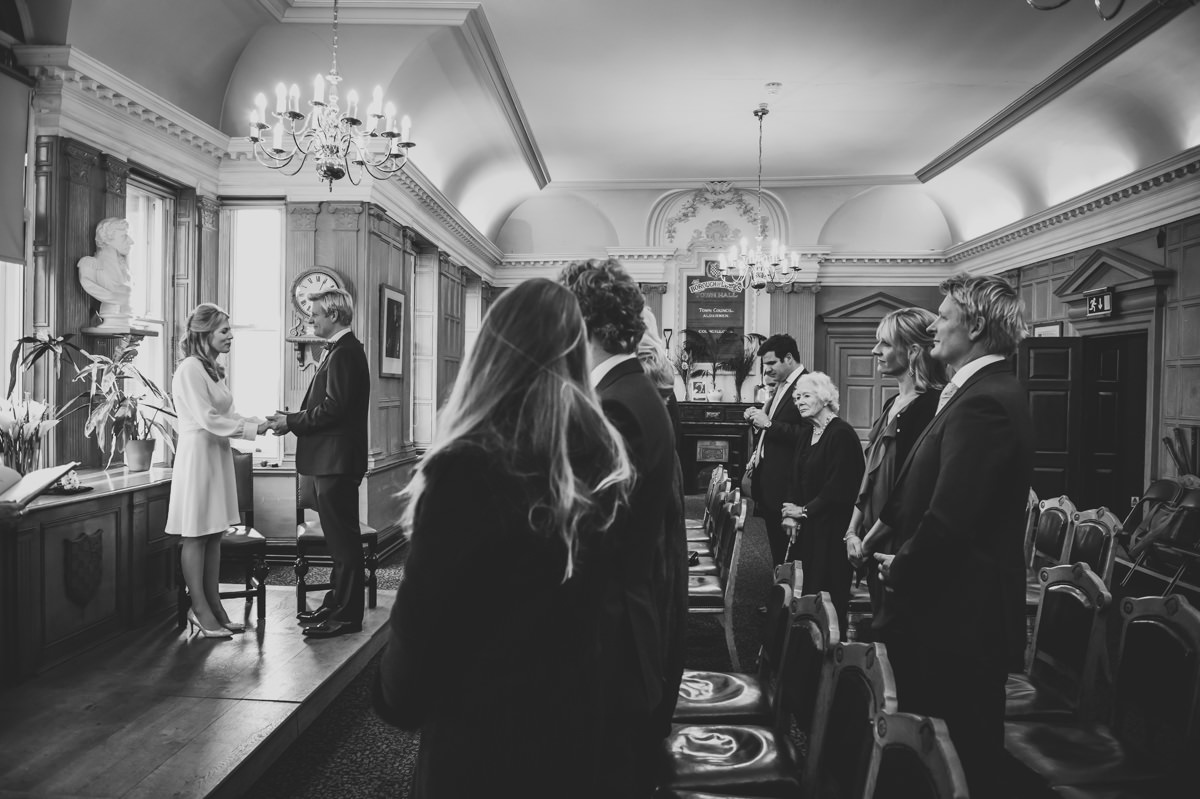 wedding photography at lewes town hall