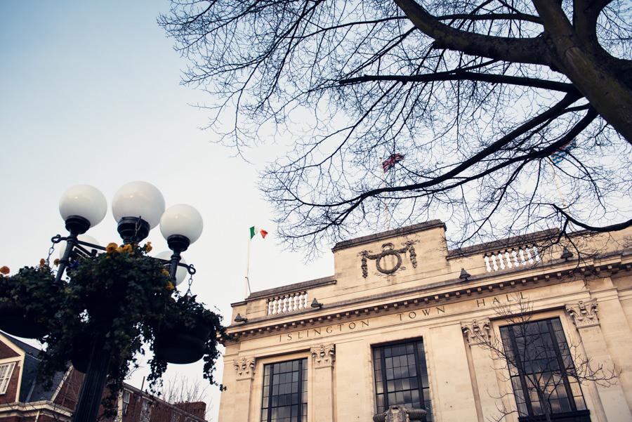 outside shot of islington town hall