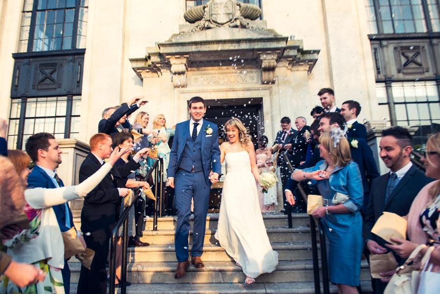 confetti at islington town hall wedding