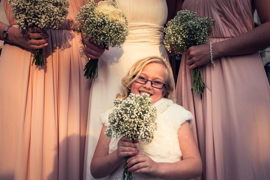 cheeky bridesmaid at islington town hall wedding