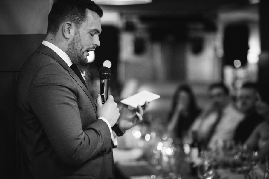 best man giving his wedding speech