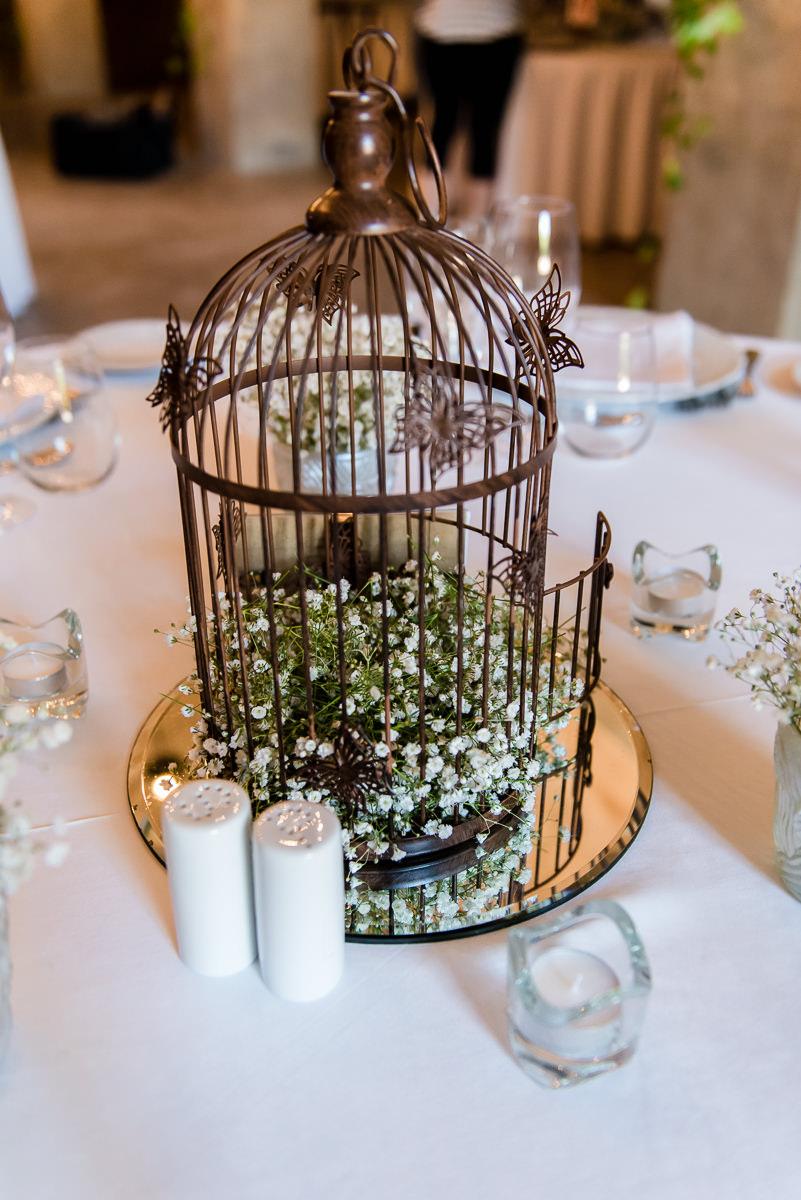 wedding table details at casa santonja spain
