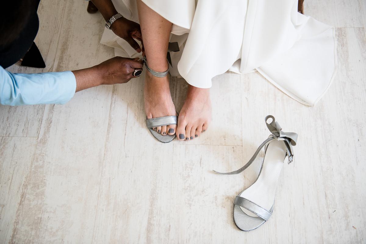 Bridal shoes at casa santonja