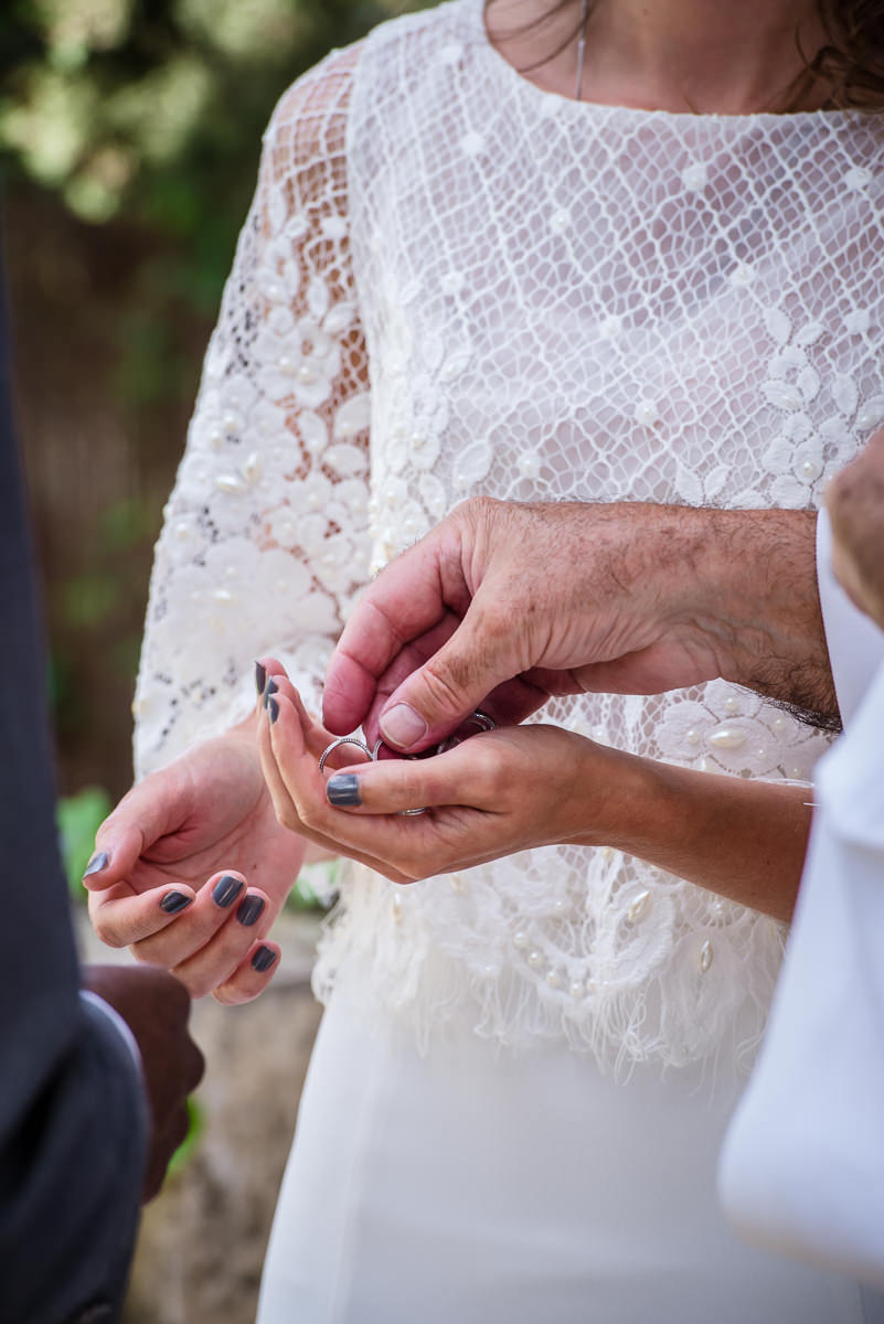 Ready to exchange wedding rings