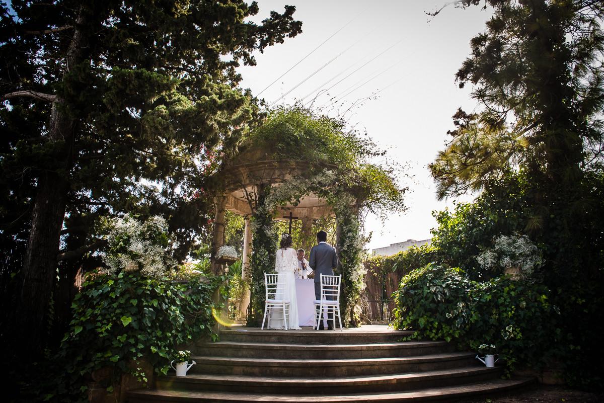 Newly weds at their spanish destination wedding
