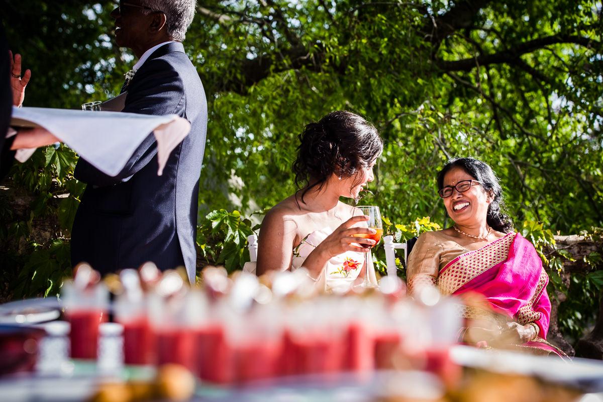 Indian wediding guests enjoying the Spanish sunshine