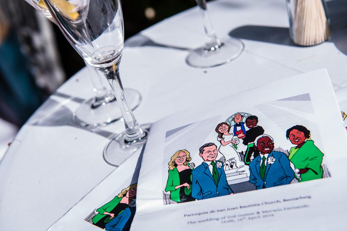 wedding details at spanish wedding