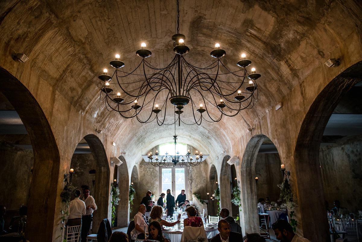 Photo of wedding dinner at Casa Santonja