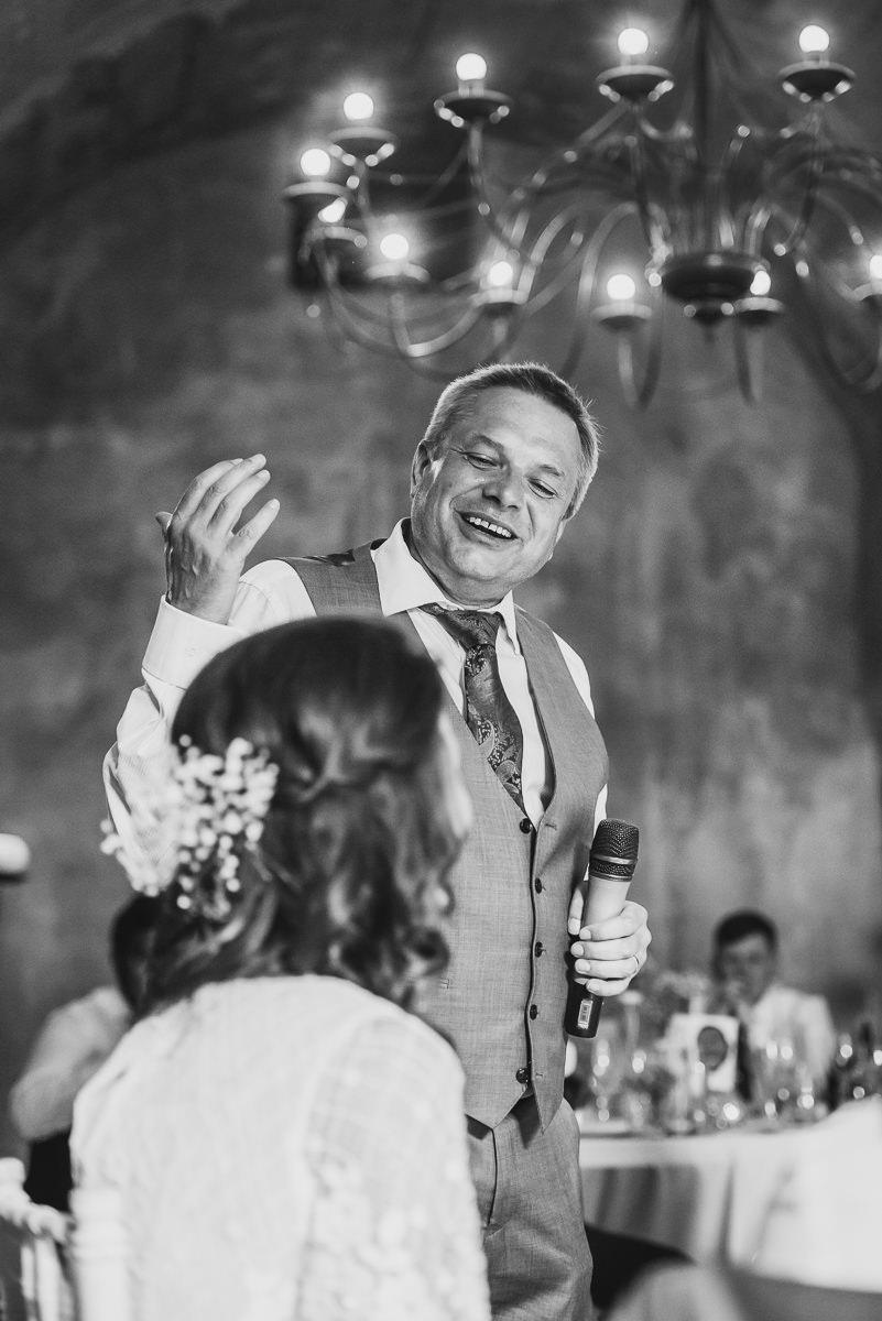 Speeches at spanish destination wedding