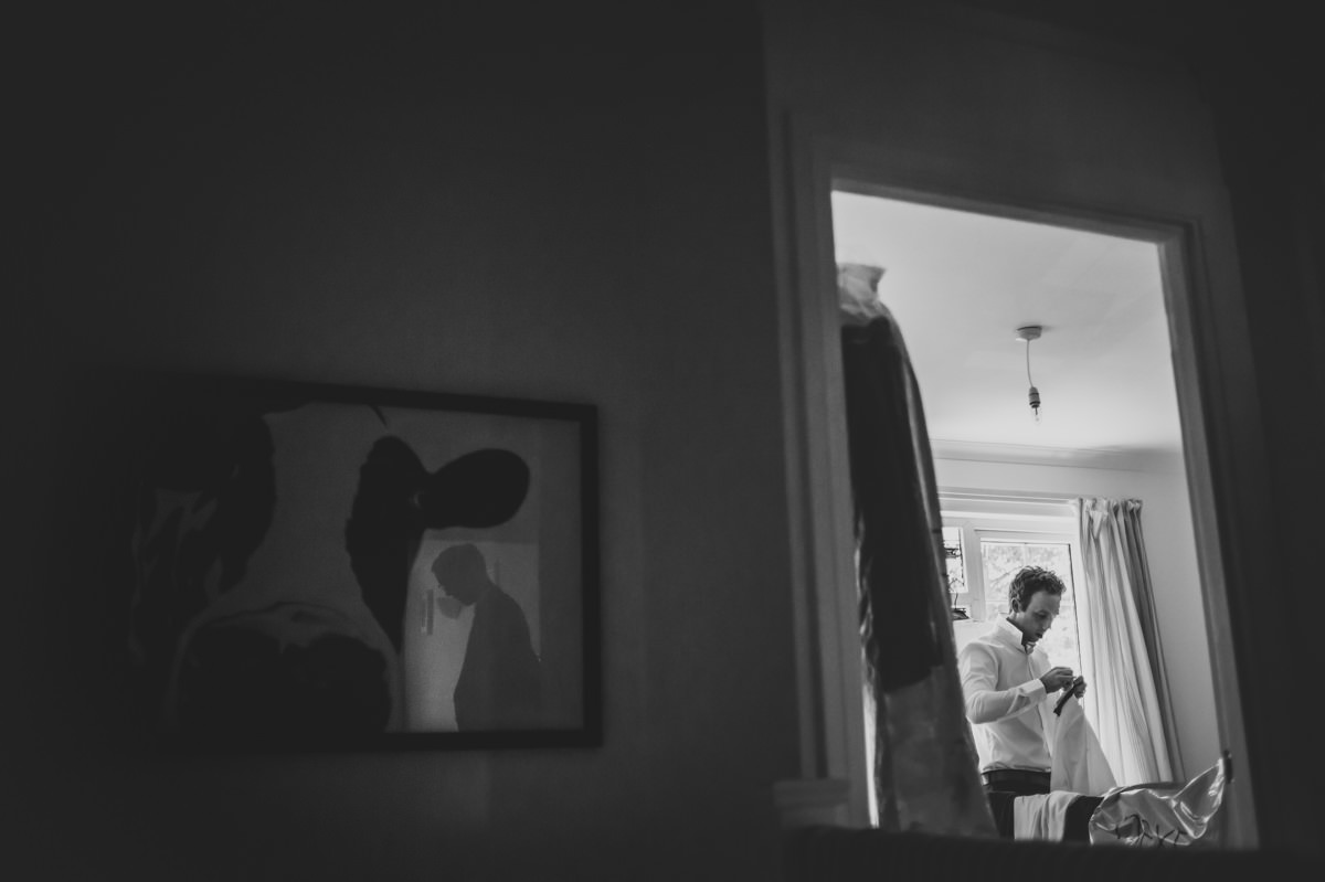groomsman getting ready for a wedding