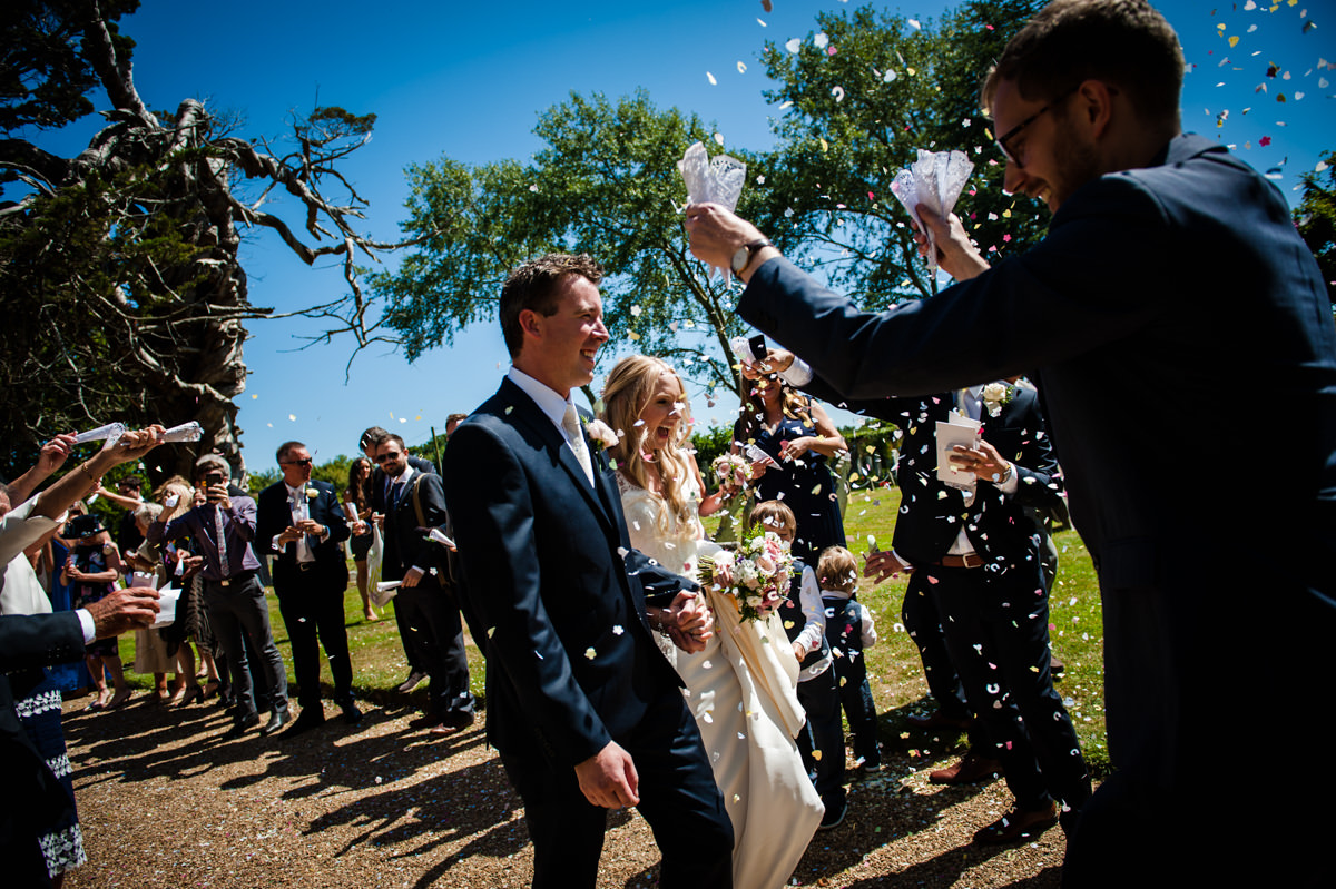 More confetti at their west sussex wedding