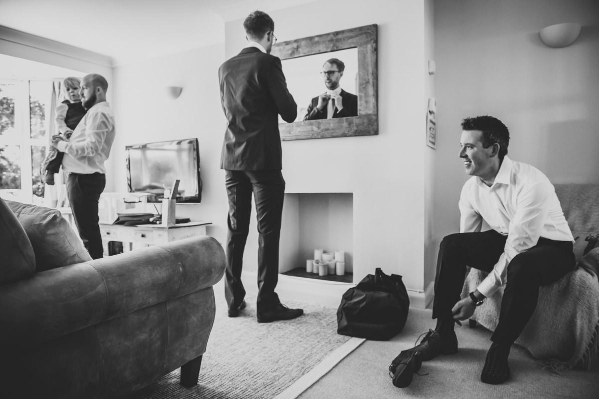 boys getting ready for a wedding
