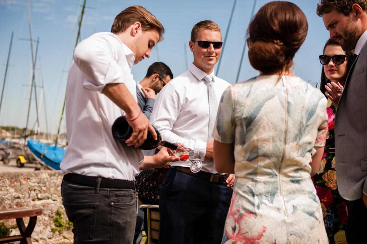 wedding reception at Itchenor Sailing Club