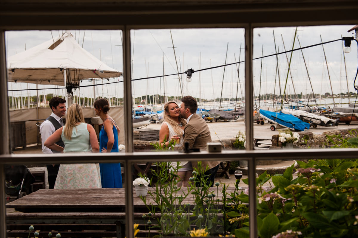 Guests enjoying the scenery at Itchenor Sailing Club