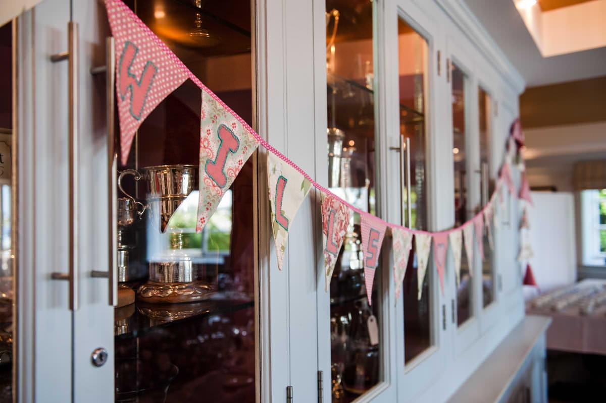 wedding decorations at Itchenor Sailing Club wedding