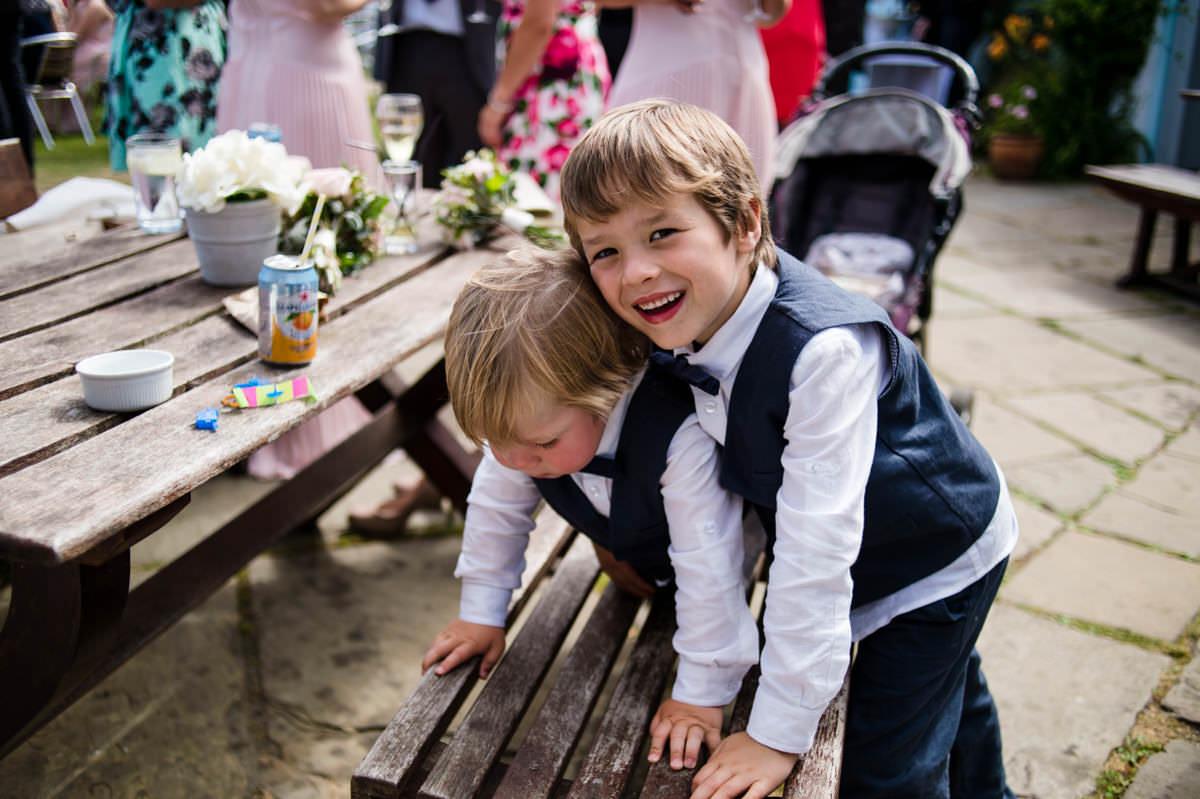 Children at wedding reception