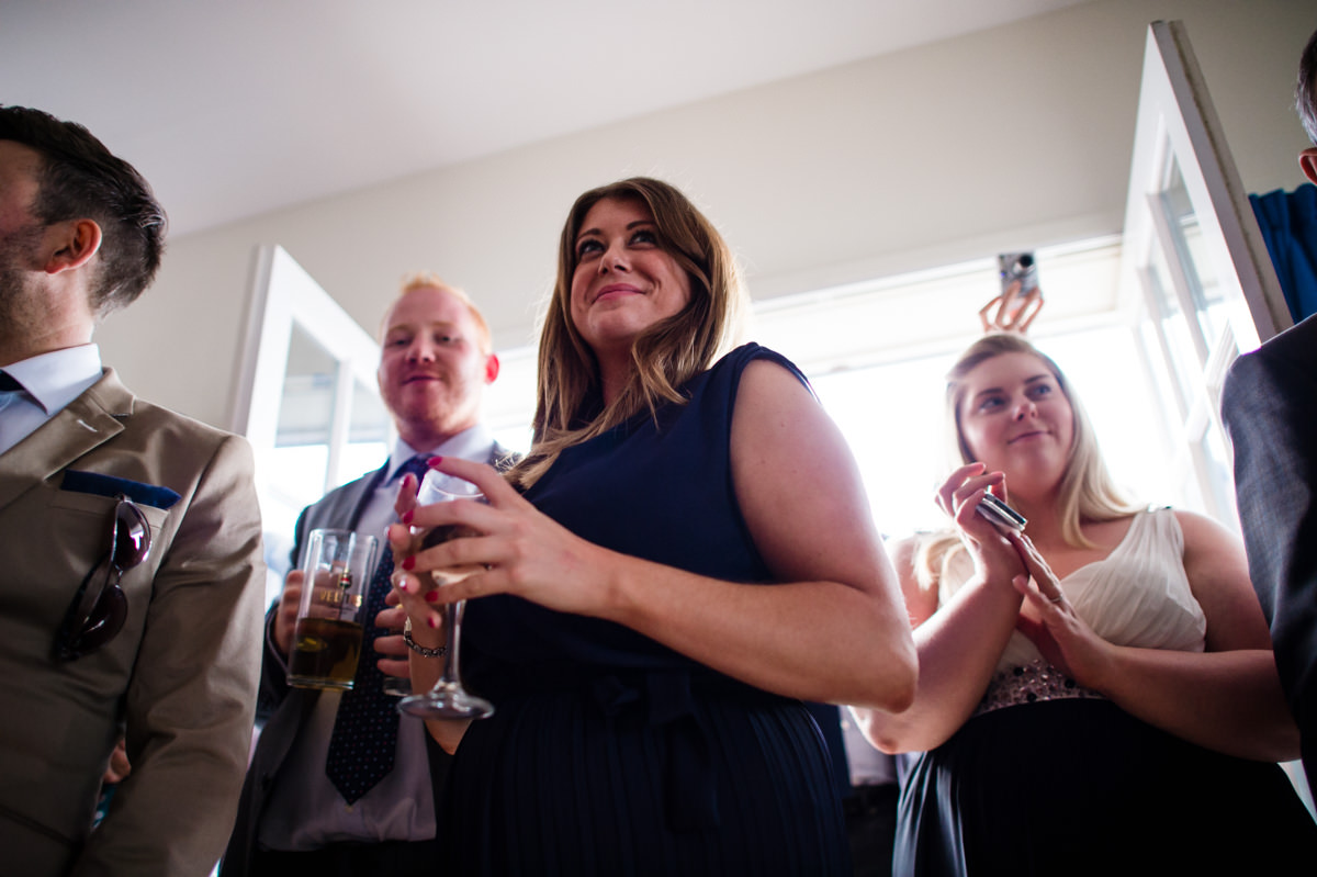 wedding guests at a west sussex wedding