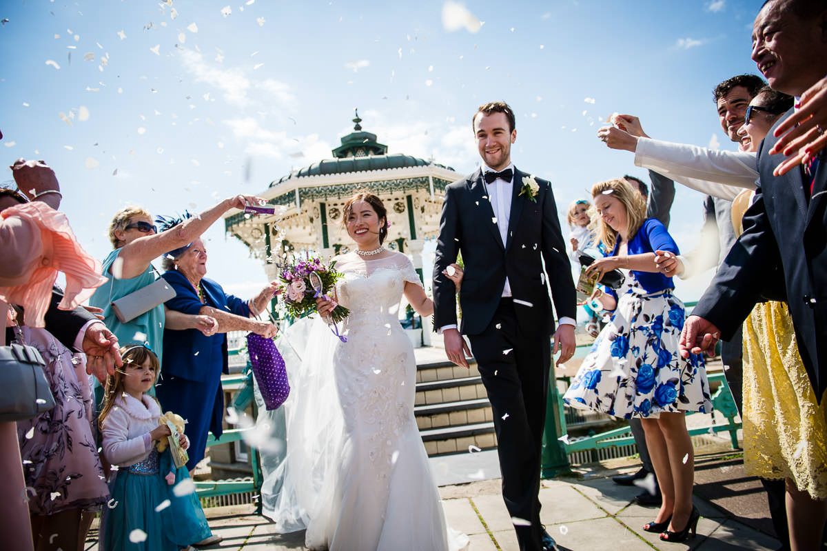 Bandstand wedding photography