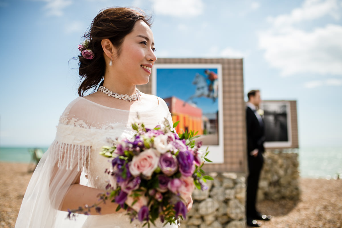 brighton beach wedding photography